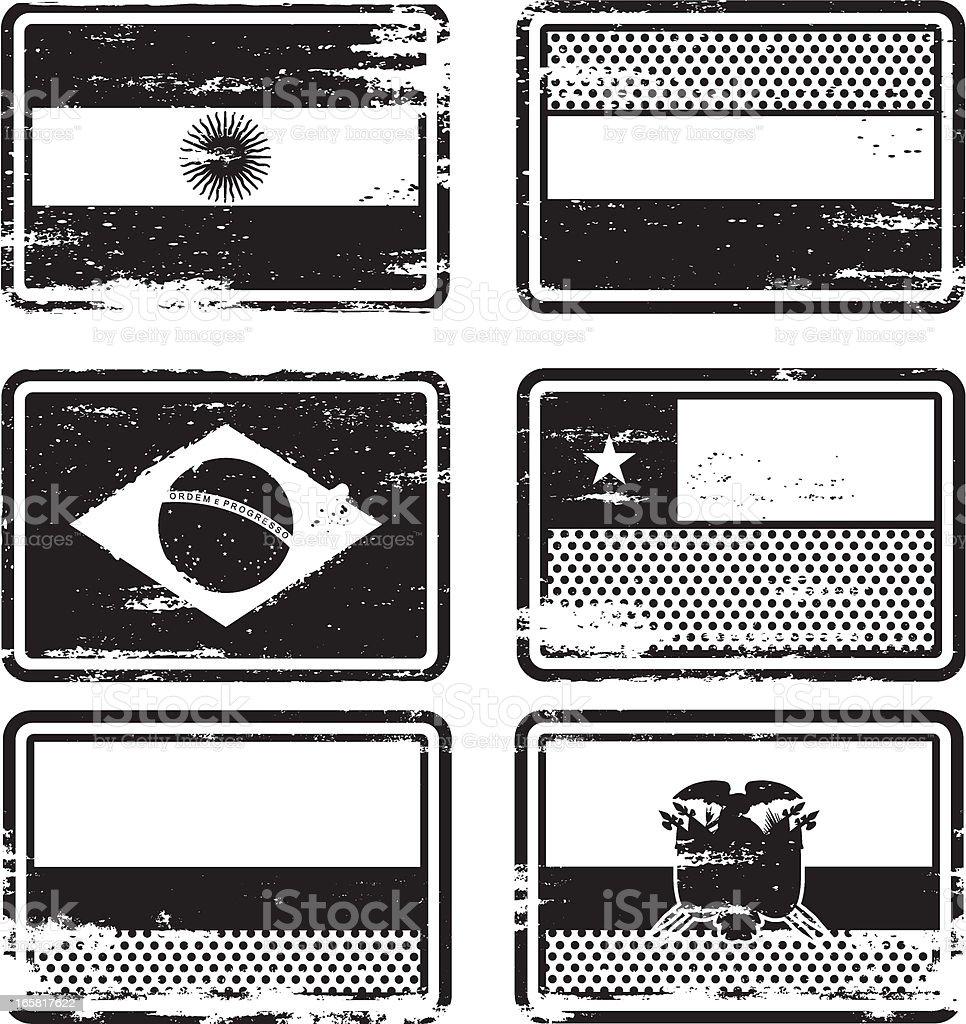 Sello de caucho Flags - ilustración de arte vectorial