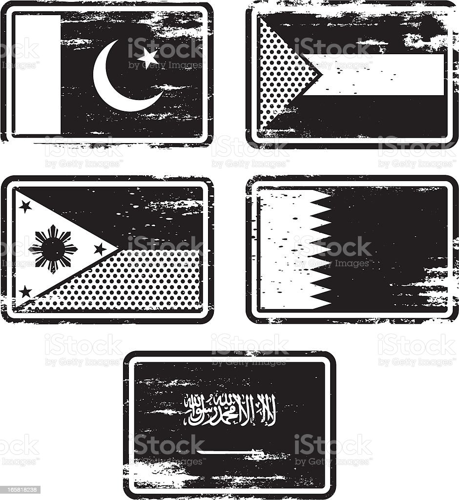 Rubber Stamp Flags royalty-free rubber stamp flags stock vector art & more images of asia