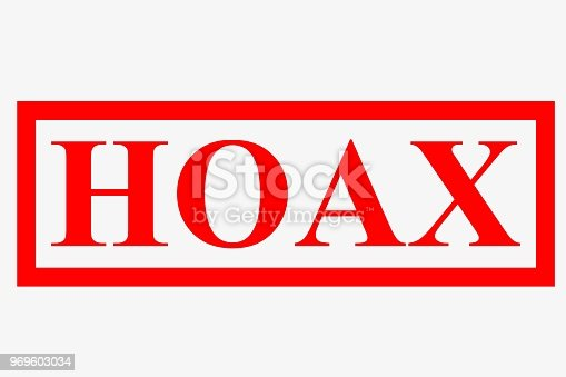 vector rubber stamp hoax or fake news