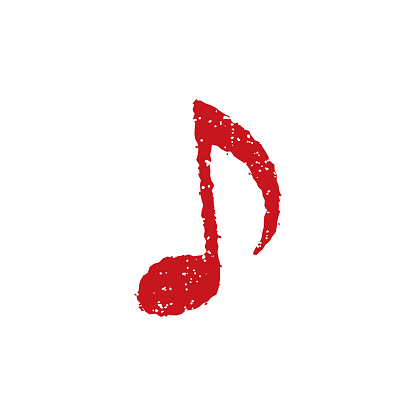 rubber stamp icon ( music,note)