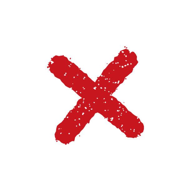 stempel-symbol (x, in der nähe, verboten) - ausstoßen stock-grafiken, -clipart, -cartoons und -symbole