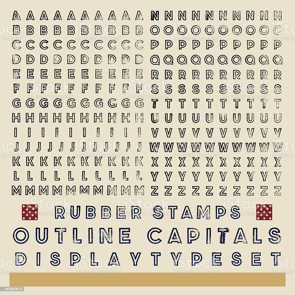 rubber stamp outline typeset vector art illustration