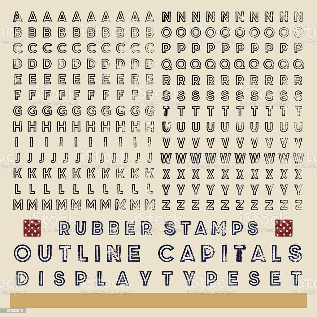 Tampon encreur contour typeset - Illustration vectorielle