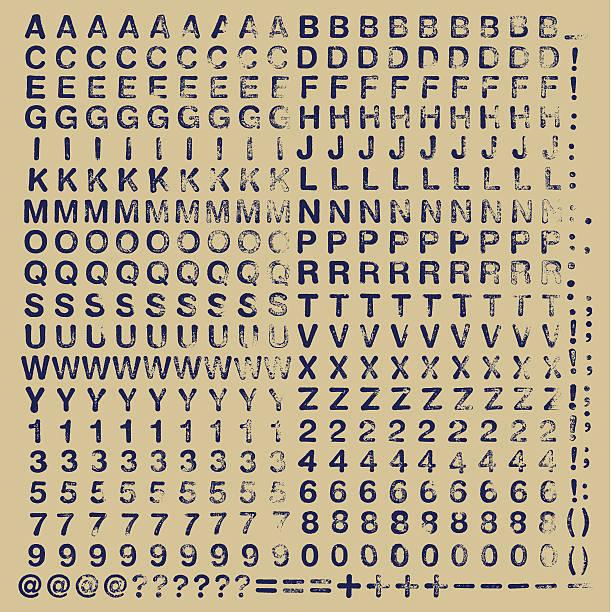 고무도장 스쿱에 typeset - 활판 인쇄 stock illustrations