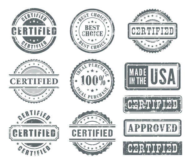 Rubber Stamps Set Vector illustration of the rubber stamps set. postage stamp stock illustrations