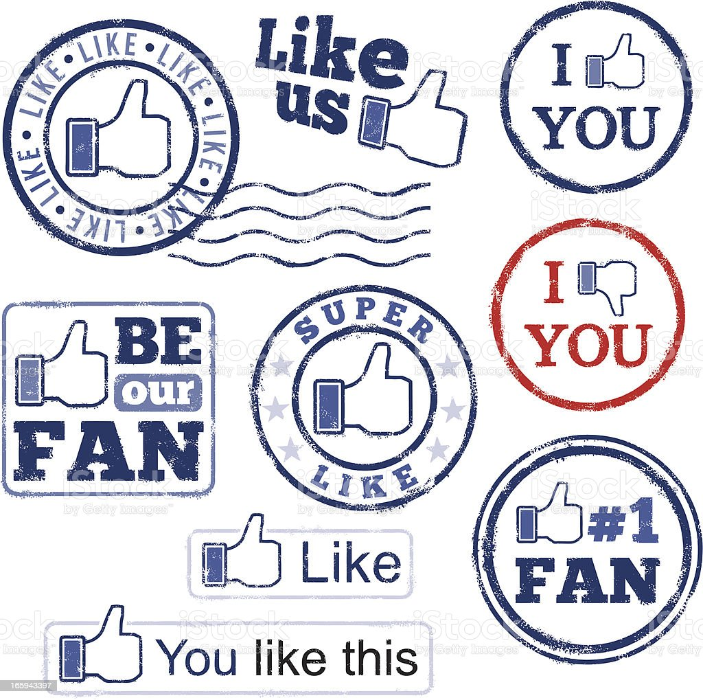Rubber stamps social networking royalty-free rubber stamps social networking stock vector art & more images of admiration
