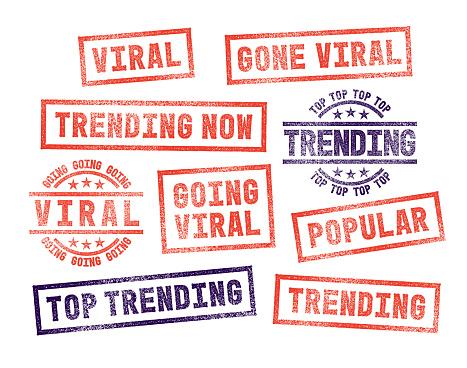 Rubber Stamps Trending Viral Popular Social Media Posts