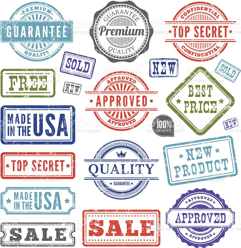 Rubber Stamps royalty-free stock vector art