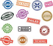 Rubber Stamps in vector illustration.