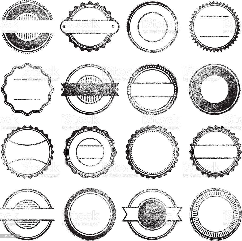Tampons en caoutchouc - Illustration vectorielle