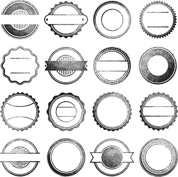 gumowa znaczki - stamp stock illustrations