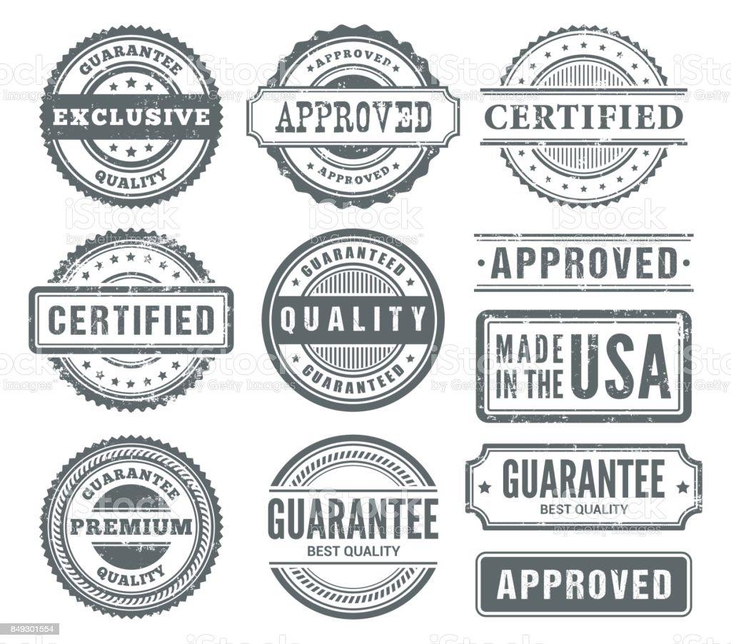 Gummi-Briefmarken  – Vektorgrafik