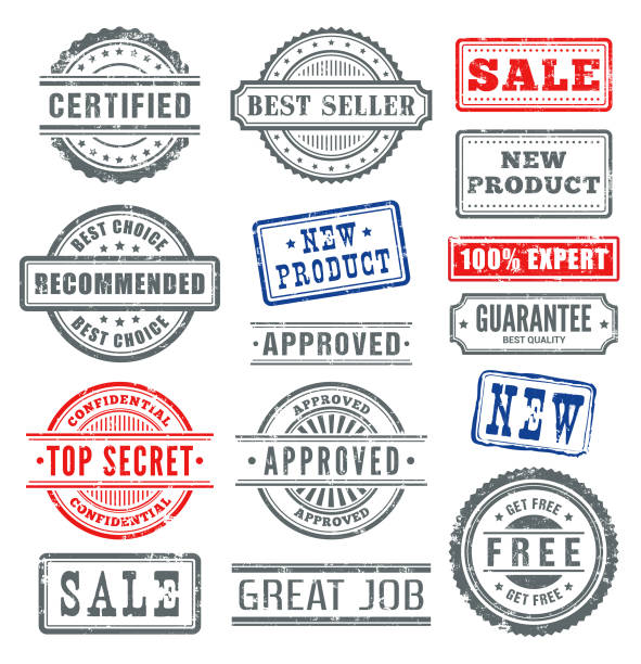 rubber stamps - stamp stock illustrations