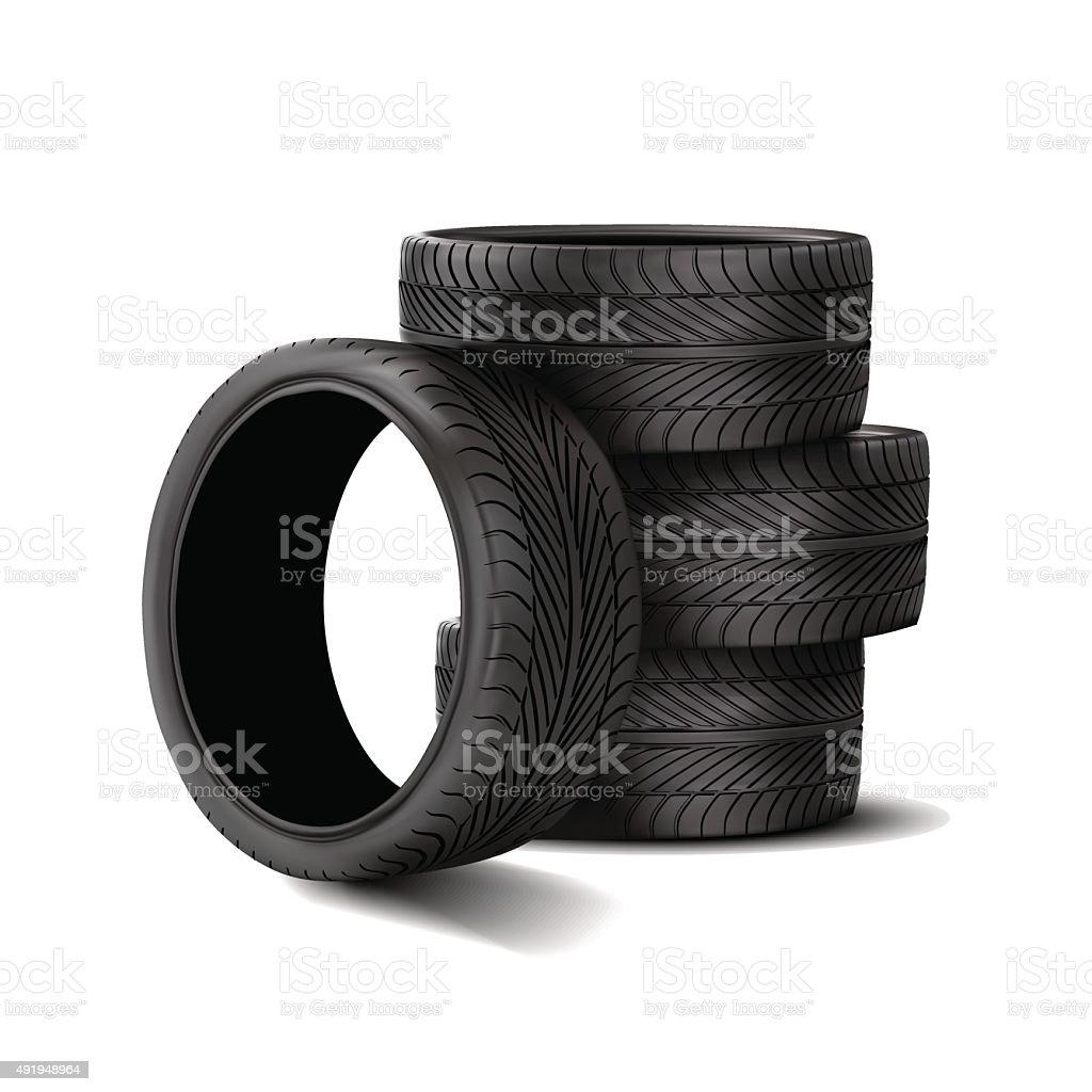 Rubber tire. vector art illustration