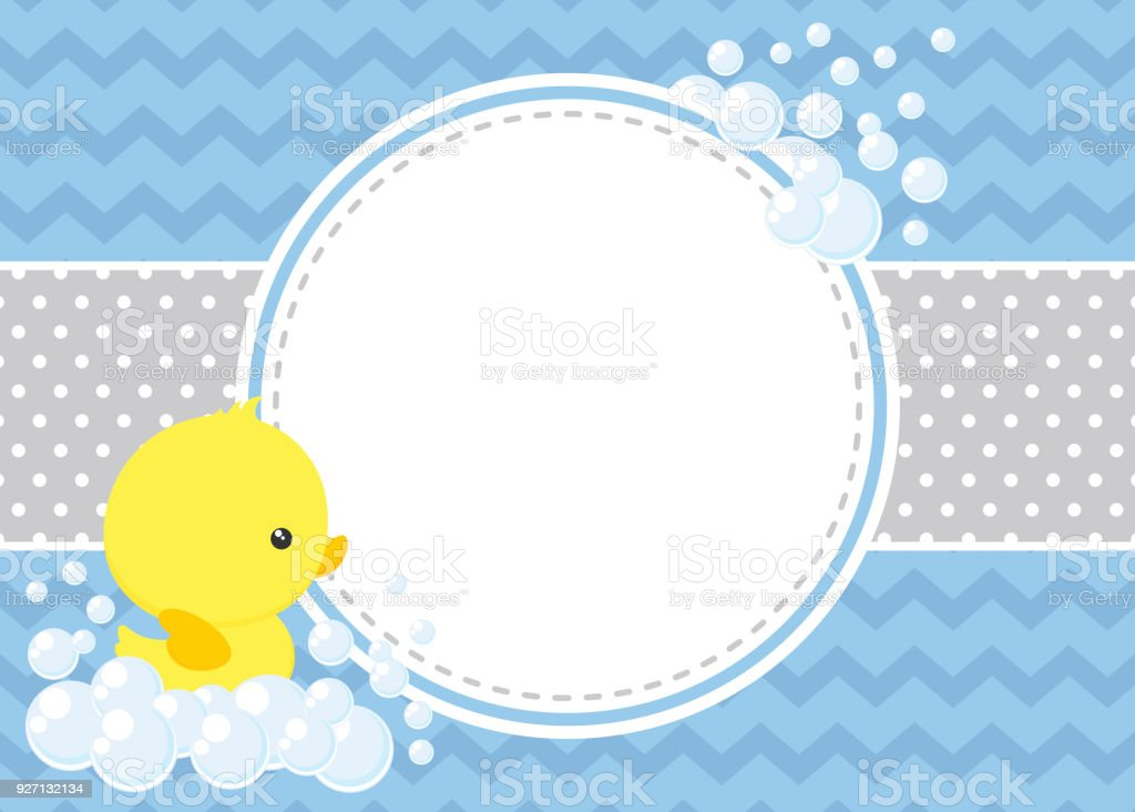 Rubberducky Baby Shower Background Stock Vector Art More Images Of
