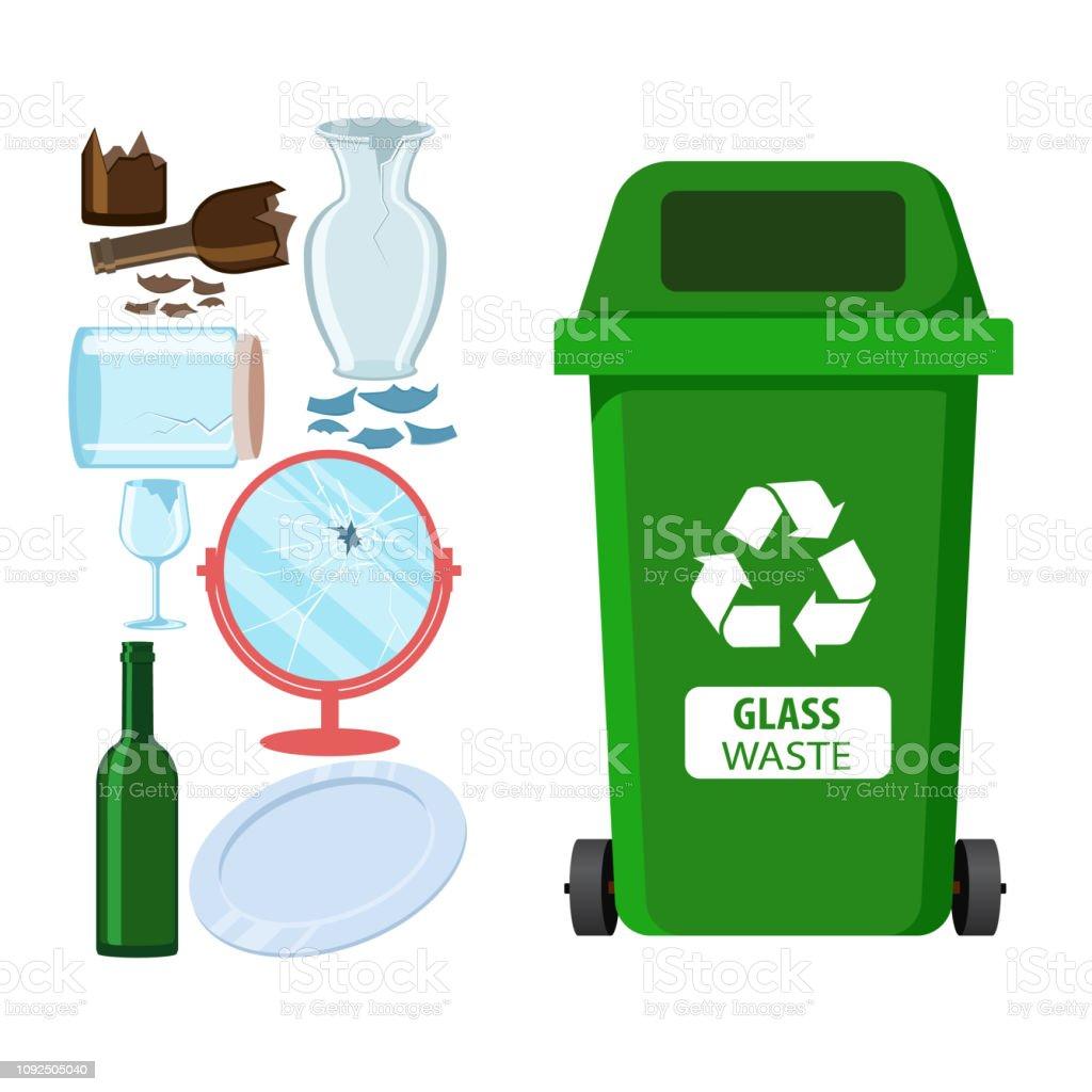 Mülleimer Für Das Recycling Von Verschiedenen Arten Von