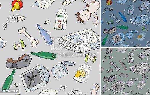 istock Rubbish! Seamless Patterns 165499995