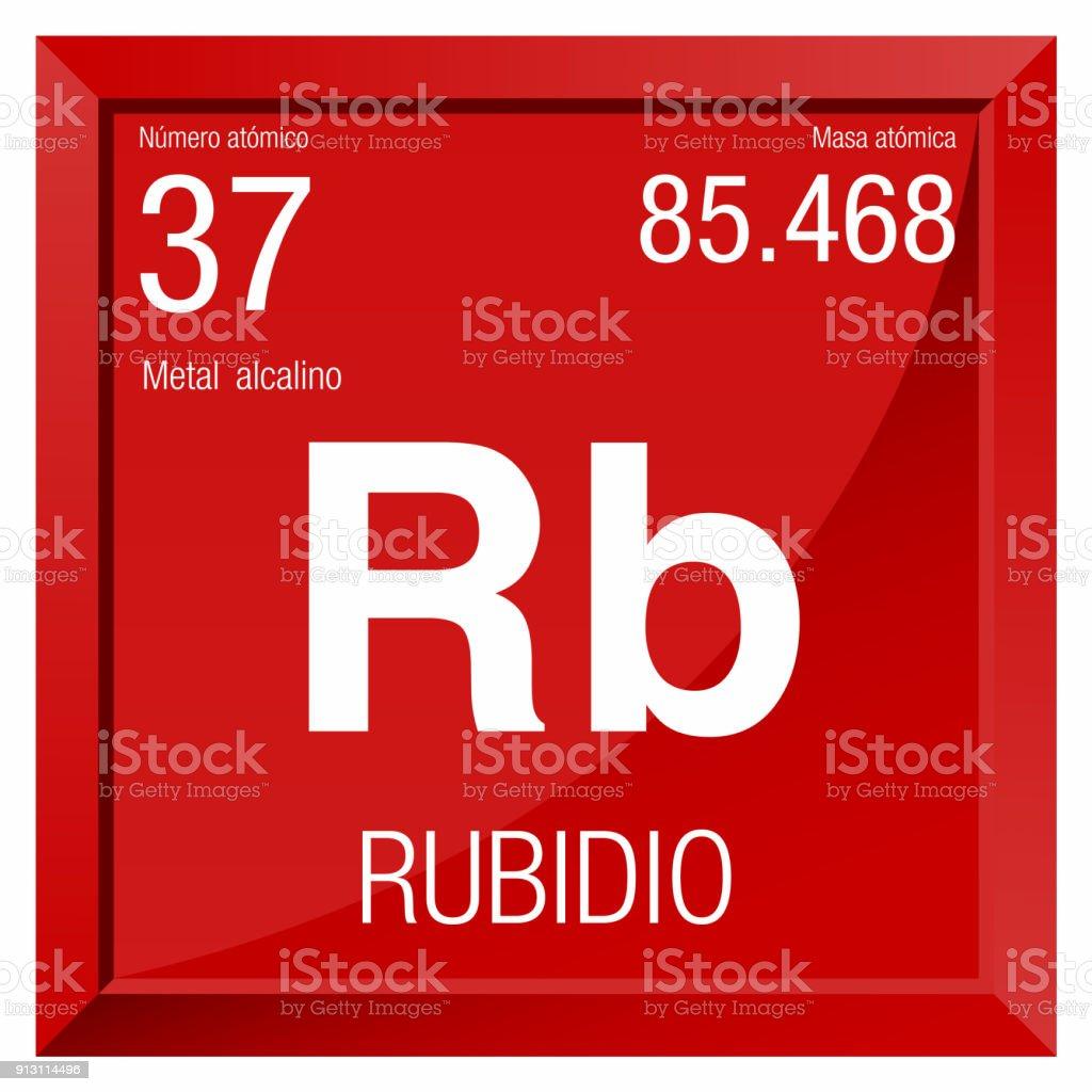 Ilustracin de smbolo del rubidio rubidio en lengua espaola smbolo del rubidio rubidio en lengua espaola elemento nmero 37 de la tabla peridica urtaz Image collections