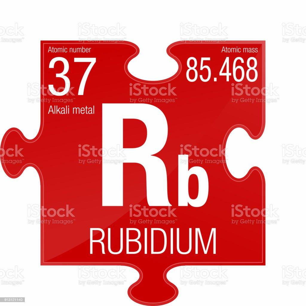 Ilustracin de smbolo del rubidio elemento nmero 37 de la tabla smbolo del rubidio elemento nmero 37 de la tabla peridica de los elementos qumica urtaz Images