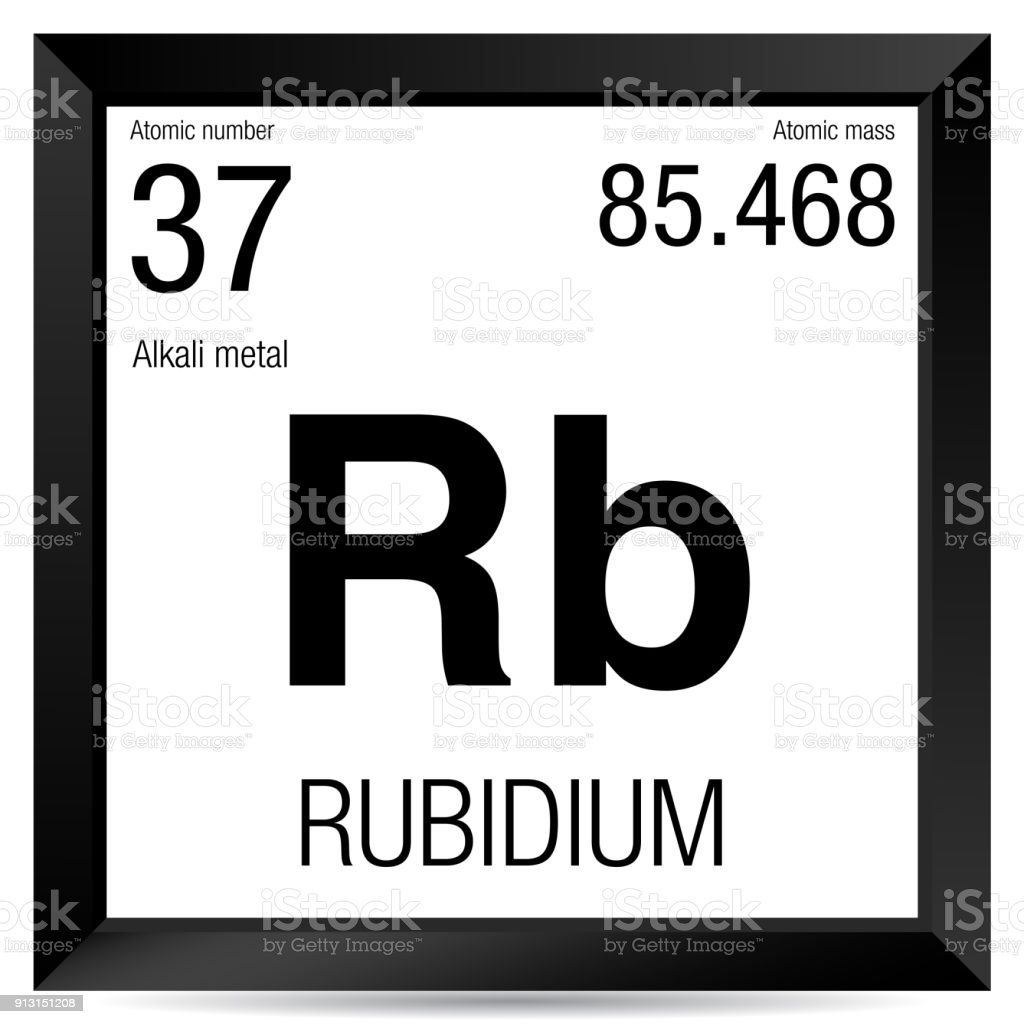 Rubidium Symbol Element Number 37 Of The Periodic Table Of The