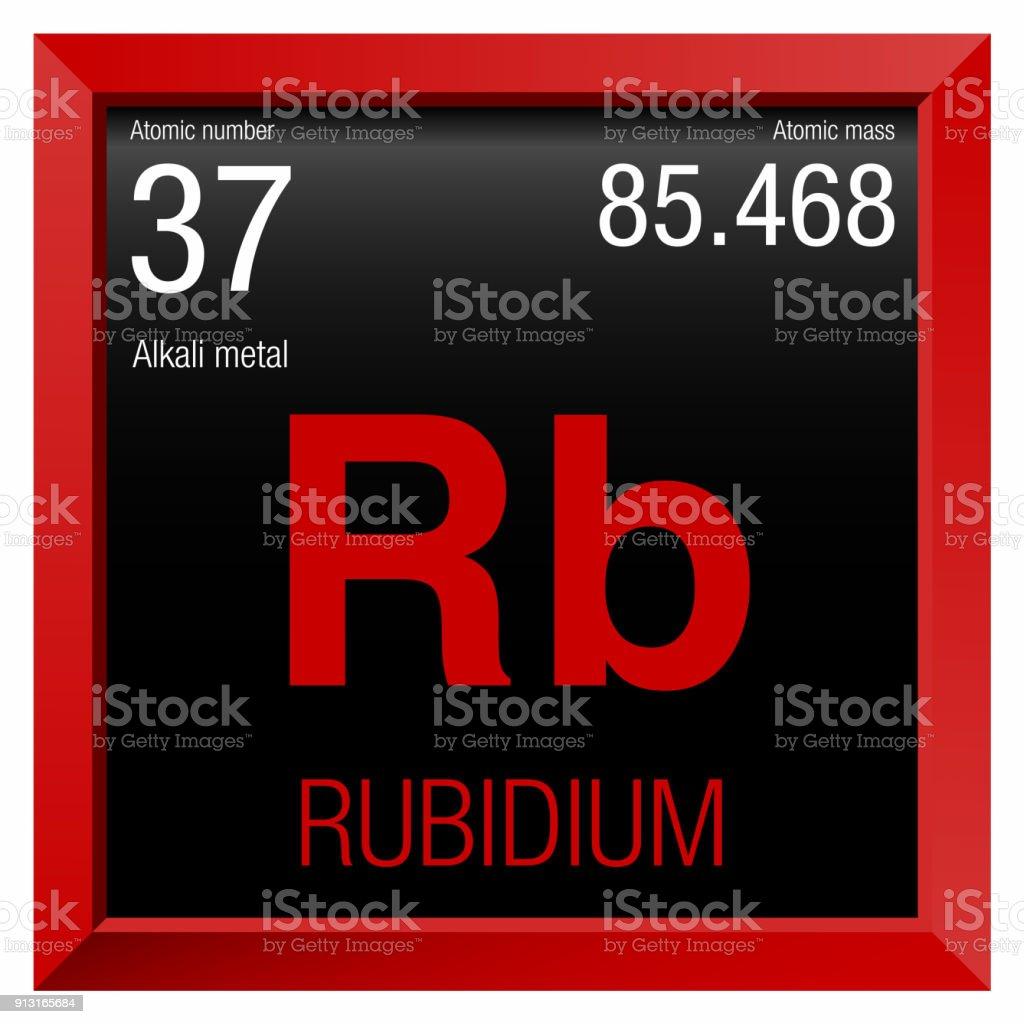 Ilustracin de smbolo del rubidio elemento nmero 37 de la tabla elemento nmero 37 de la tabla peridica de los elementos qumica urtaz Choice Image