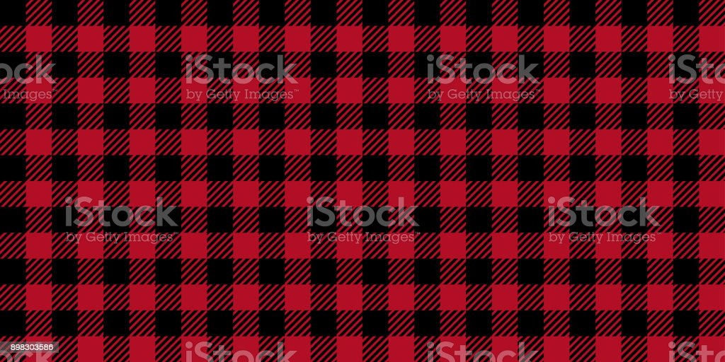 Ruby Lumberjack Buffalo Plaid Seamless Pattern vector art illustration