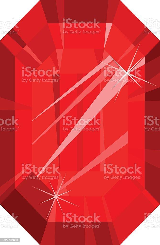 Rosso Rubino Isolato Su Sfondo Bianco Immagini Vettoriali Stock E