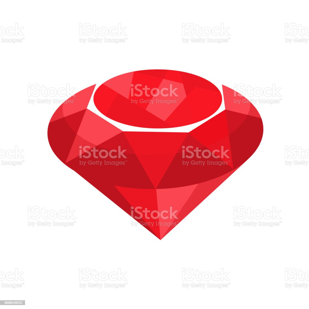 ruby red jewelry vector art illustration
