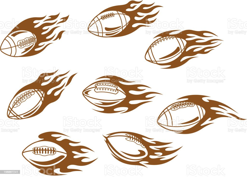 Rugby and football tattoos royalty-free stock vector art