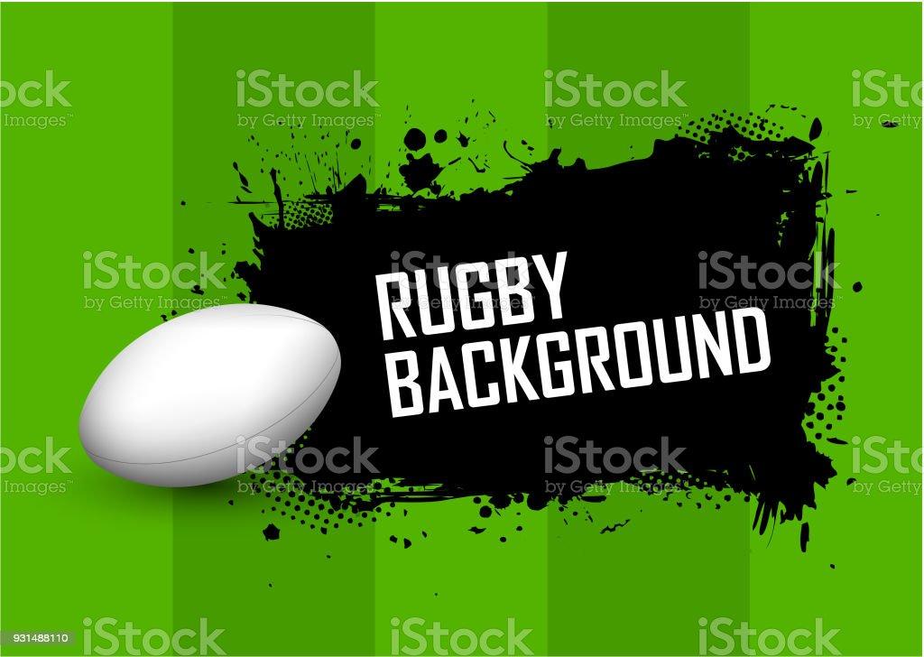 Fondo de Rugby - ilustración de arte vectorial