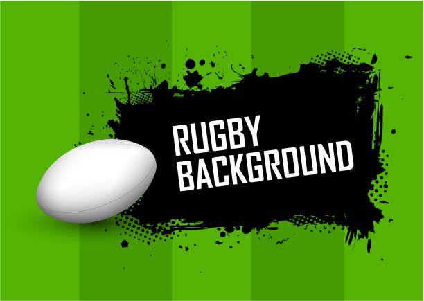 Fundo de Rugby - ilustração de arte em vetor