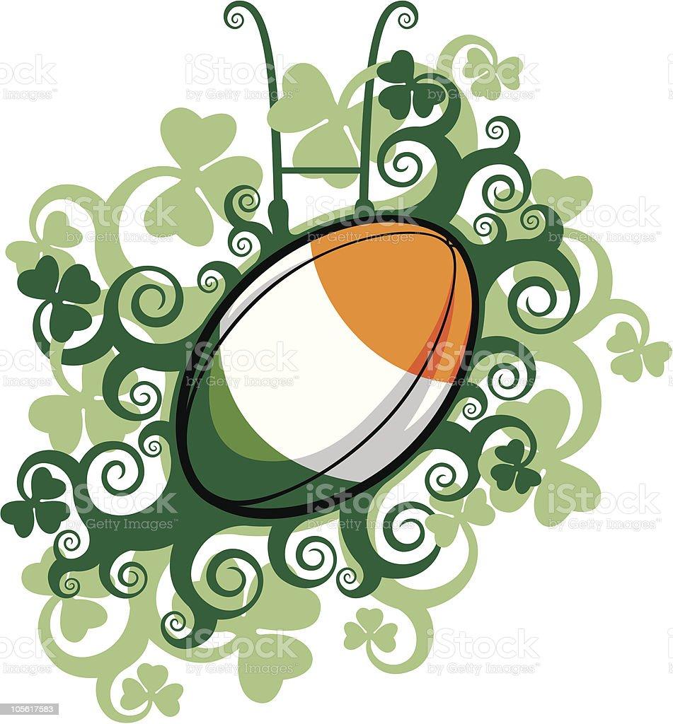 Rugby Ball Emblem Ireland royalty-free stock vector art