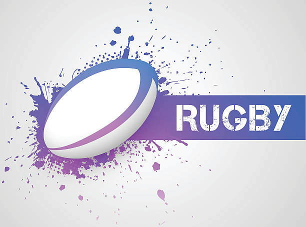 Rugby ball Illustration contains a transparency blends/gradients. Additional .aiCS6 included. EPS 10 rugby stock illustrations