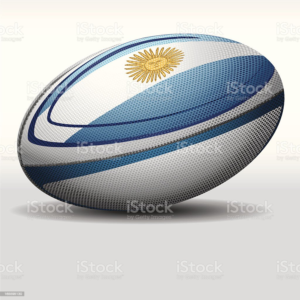 Rugby ball-Argentina royalty-free stock vector art