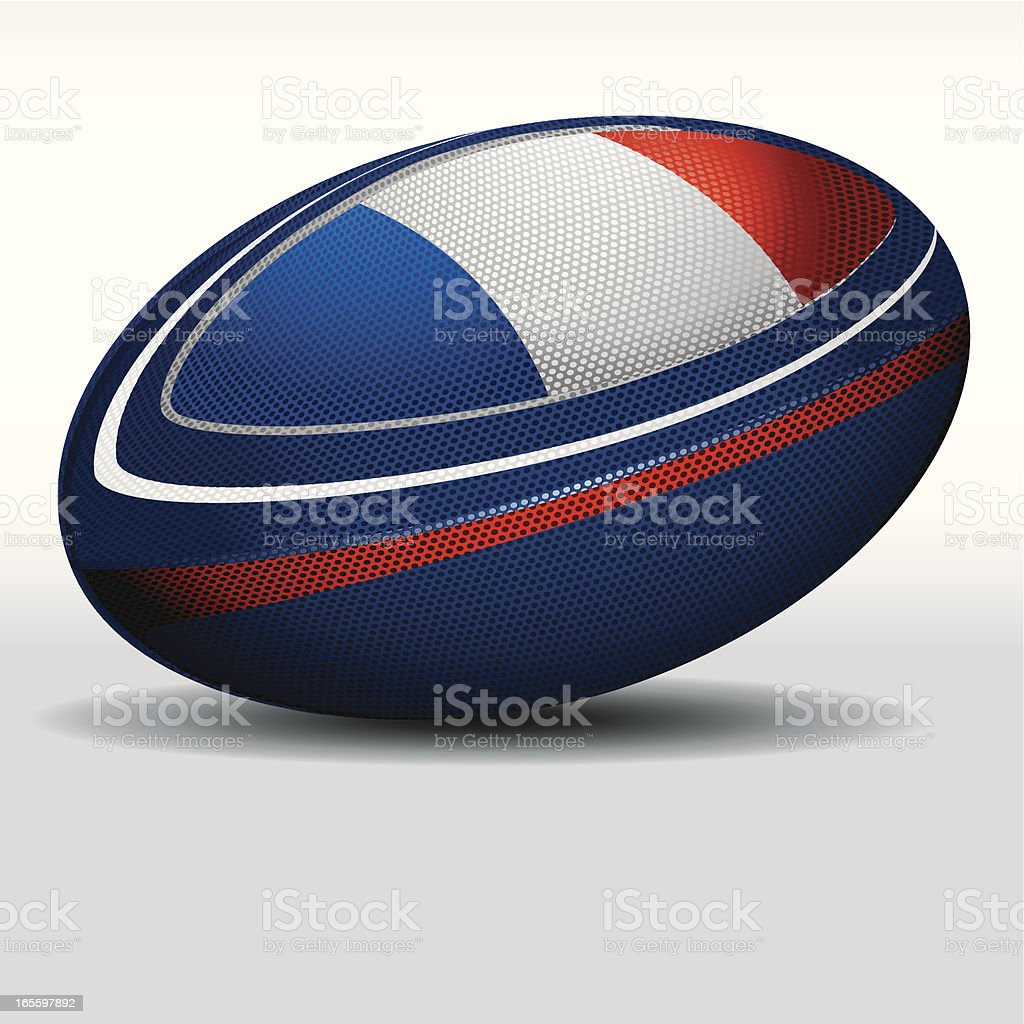 Rugby ball-France royalty-free stock vector art