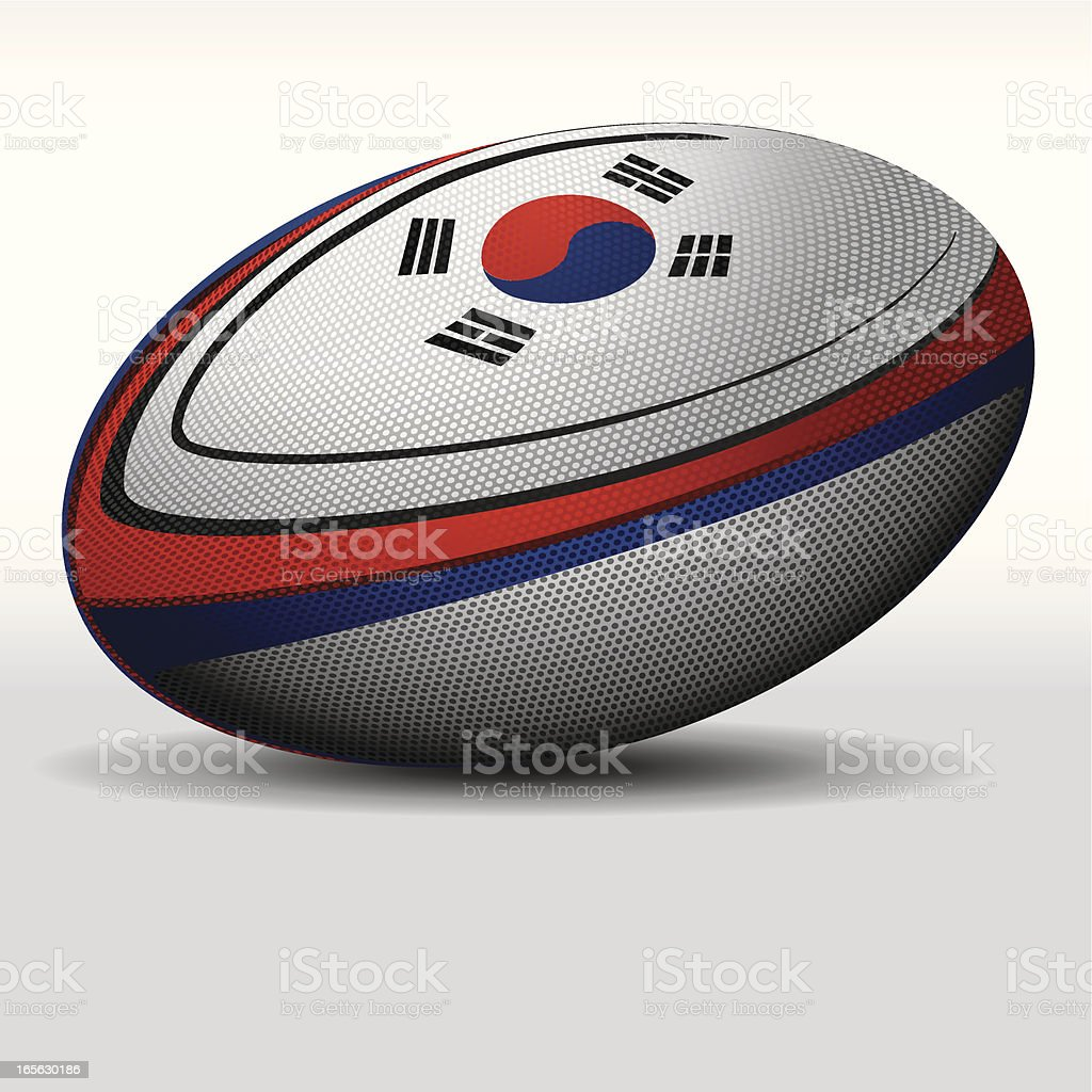 Rugby ball-Korea royalty-free rugby ballkorea stock vector art & more images of illustration