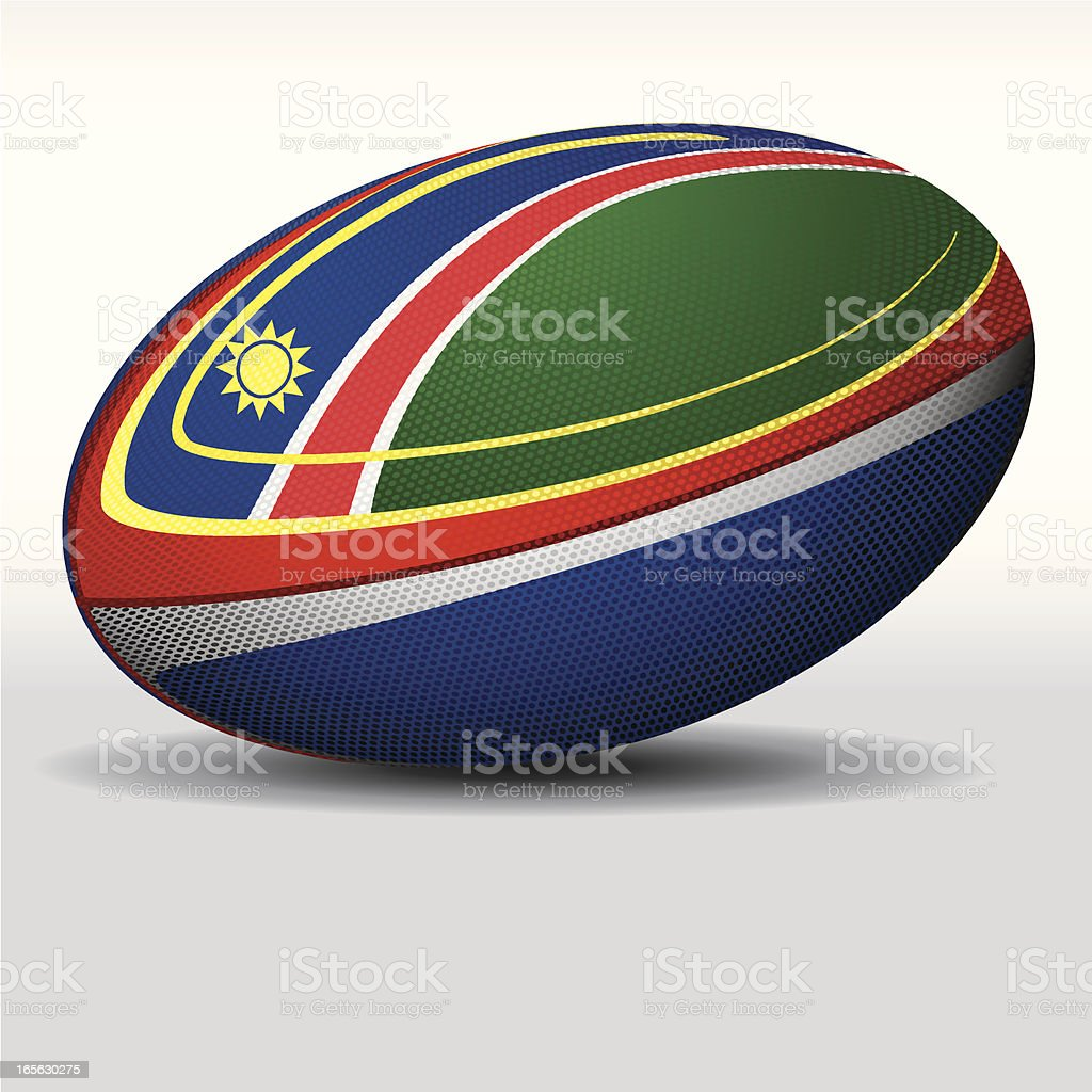Rugby ball-Namibia royalty-free stock vector art