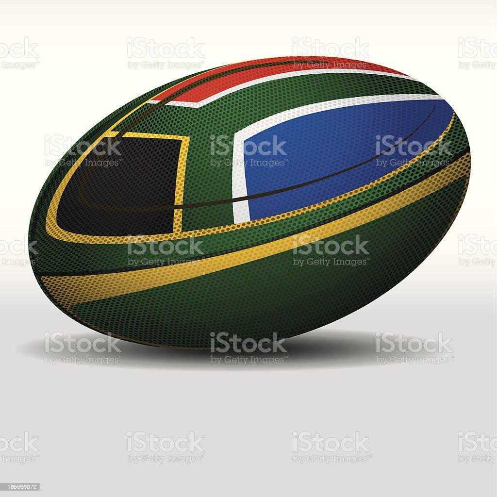 Pelota de Rugby de sudáfrica ilustración de pelota de rugby de sudáfrica y más banco de imágenes de bandera libre de derechos