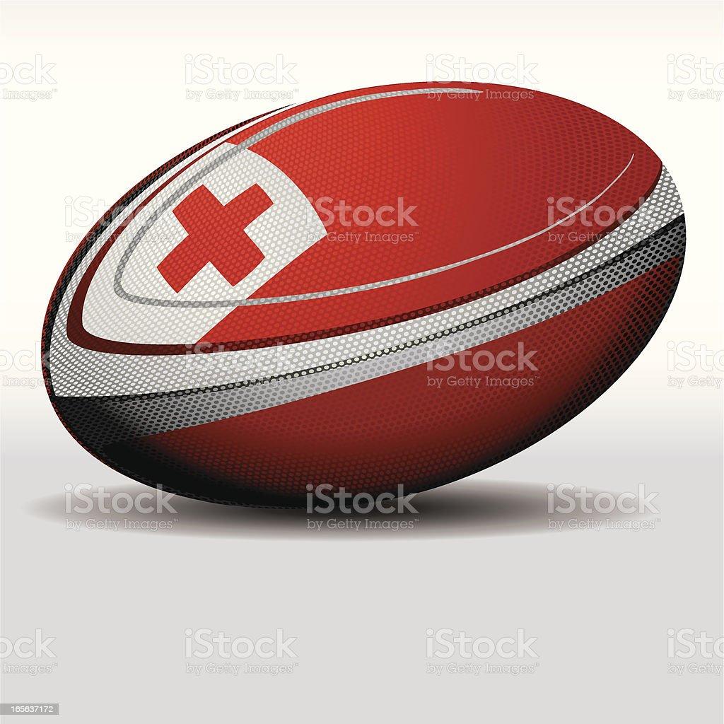 Rugby ball-Tonga vector art illustration