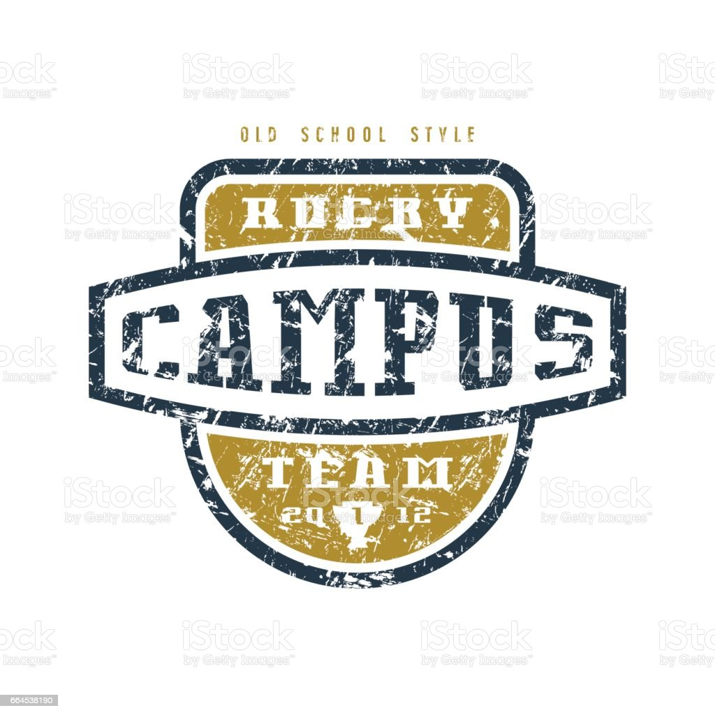 Rugby campus  team badge royalty-free rugby campus team badge stock vector art & more images of american football - sport