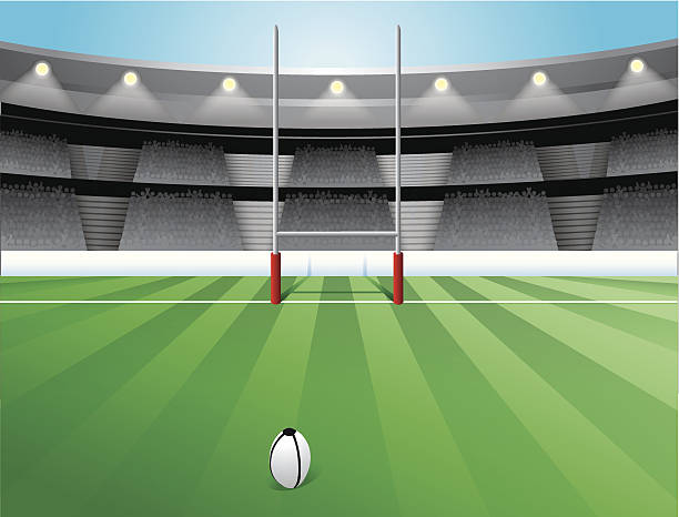 Rugby Field INCLUDES vector file *.eps and high definition *.jpeg rugby stock illustrations