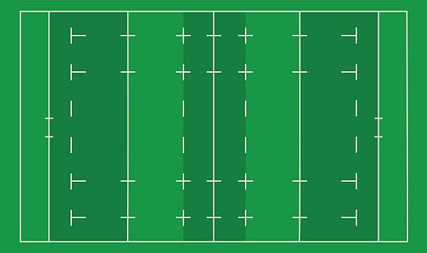 rugby-feld - rugby stock-grafiken, -clipart, -cartoons und -symbole