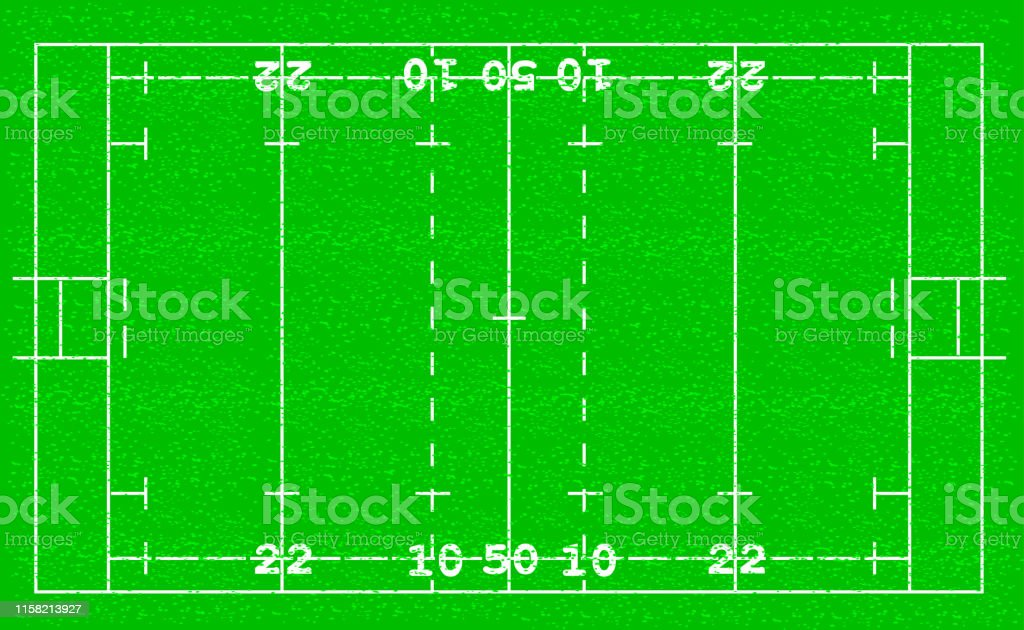 Rugby football field background Football grass field vector...
