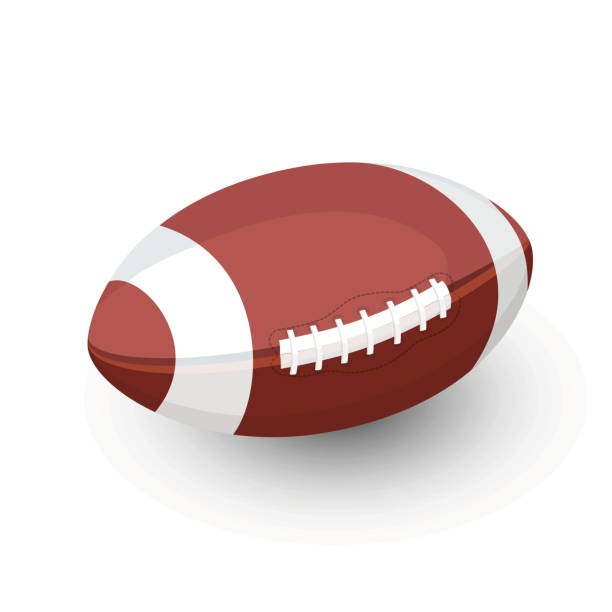 AFL rugby Football ball vector art illustration