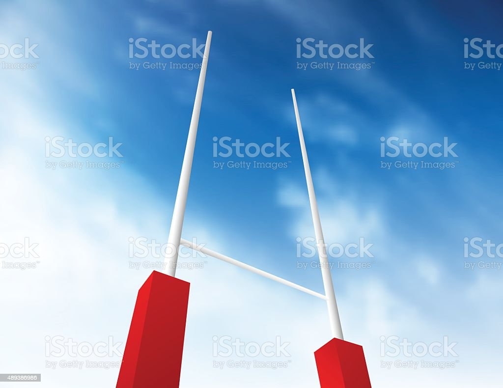 Objetivo de Rugby - ilustración de arte vectorial