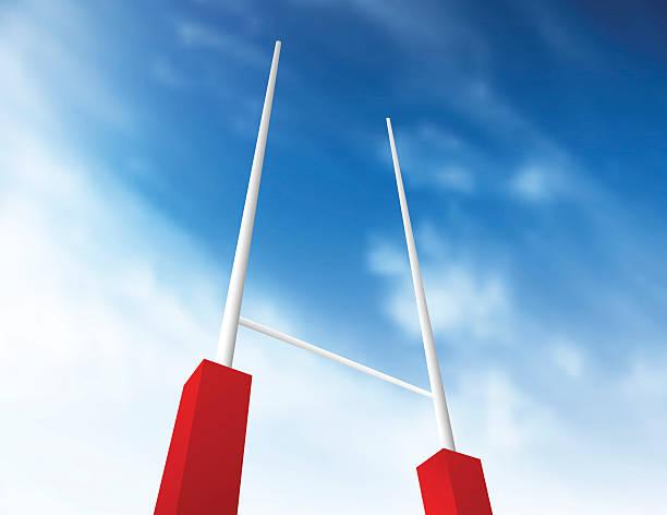 Meta de Rugby - ilustração de arte em vetor