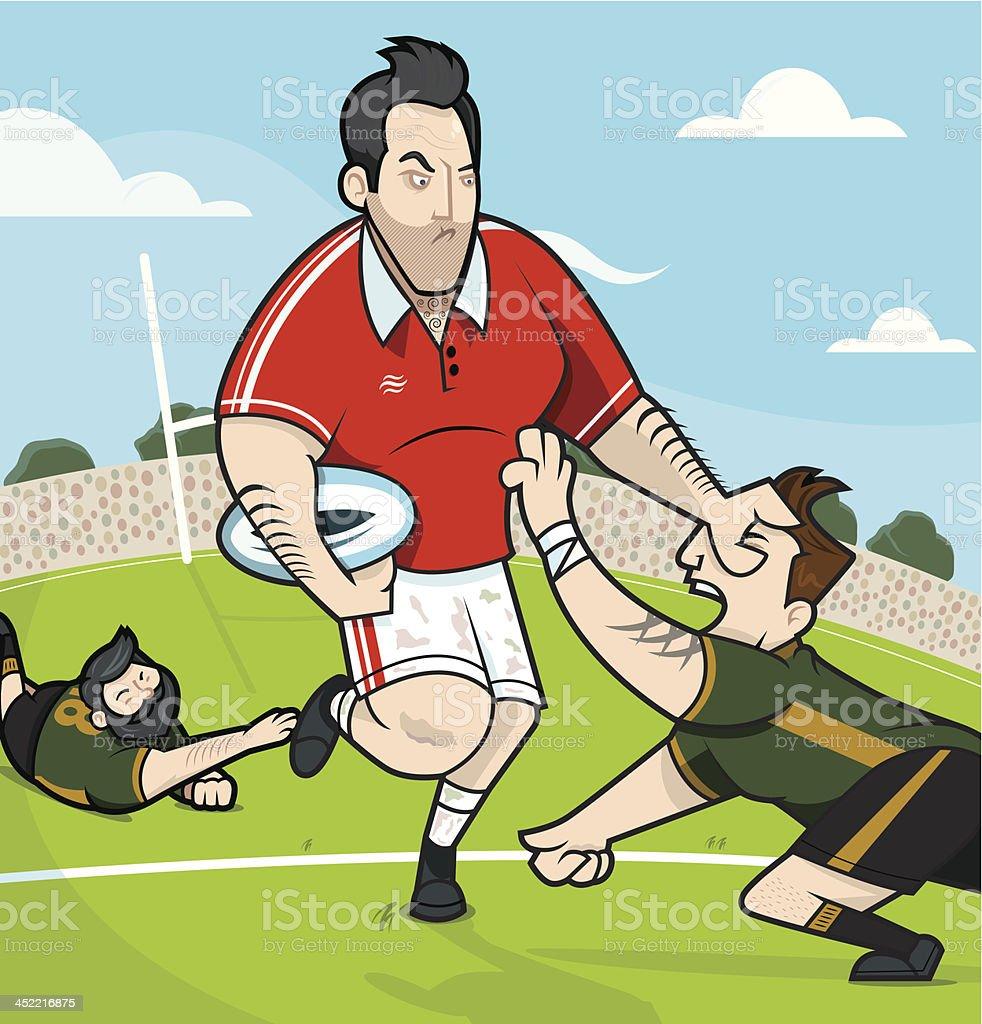 Rugby-Spiel – Vektorgrafik