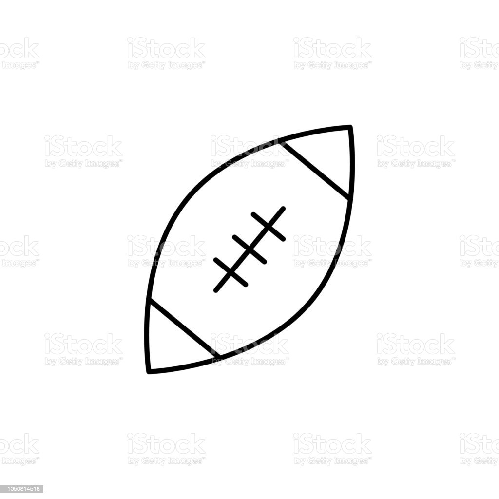 Rugby Outline Icon Element Of Sports Items Icon For Mobile