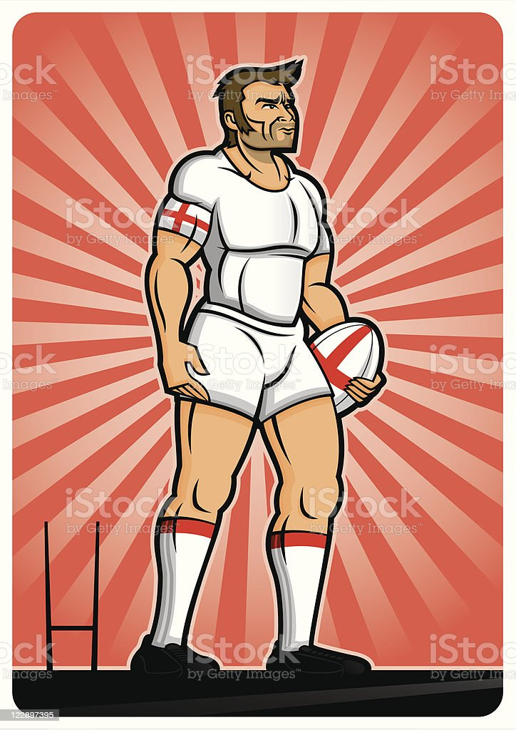 Rugby Player England royalty-free rugby player england stock vector art & more images of adult