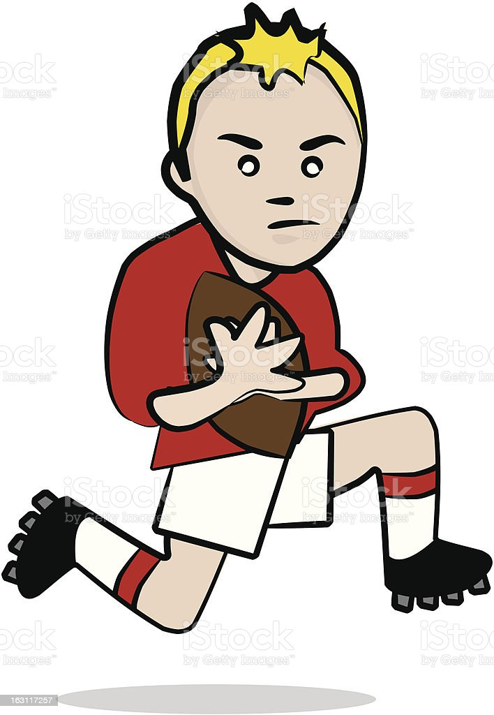 rugby player [ sport ] royalty-free stock vector art
